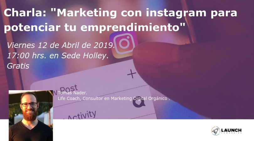 Charla:»Marketing con instagram para potenciar tu emprendimiento»